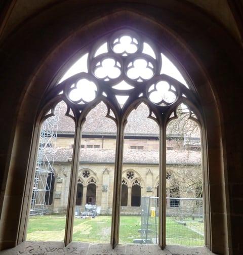 Maulbronn monastery window courtyard in Baden-Württemberg, Germany