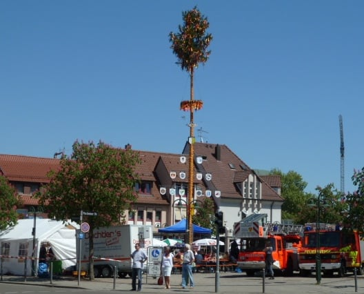 Maypole celebrations festival in Germany