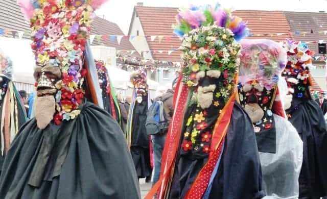 Carnival Parade Flower Guys in Germany