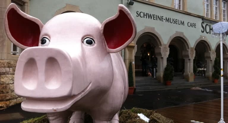 World's largest pig museum in Stuttgart, Germany