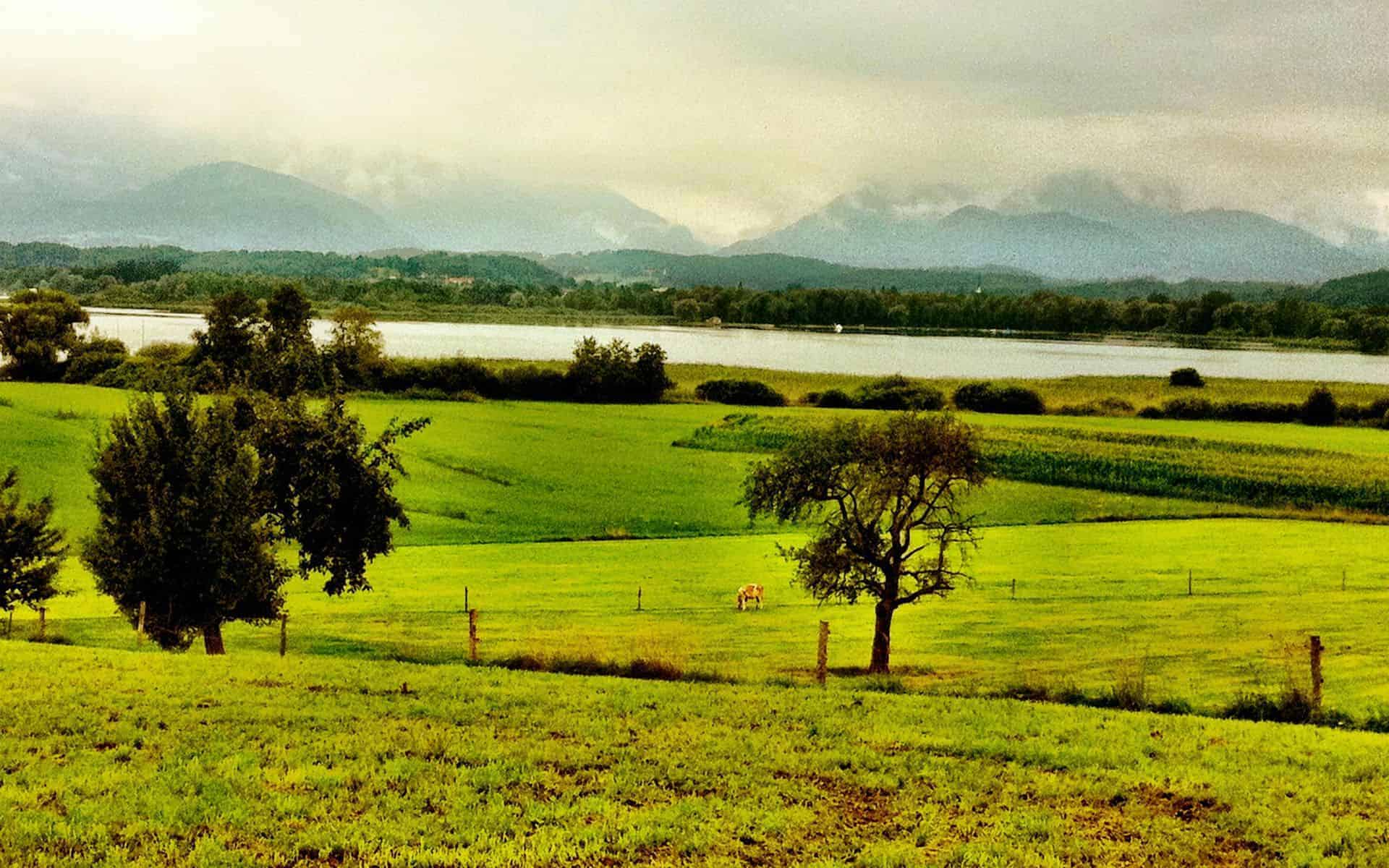 Prien am Chiemsee landscape in Germany