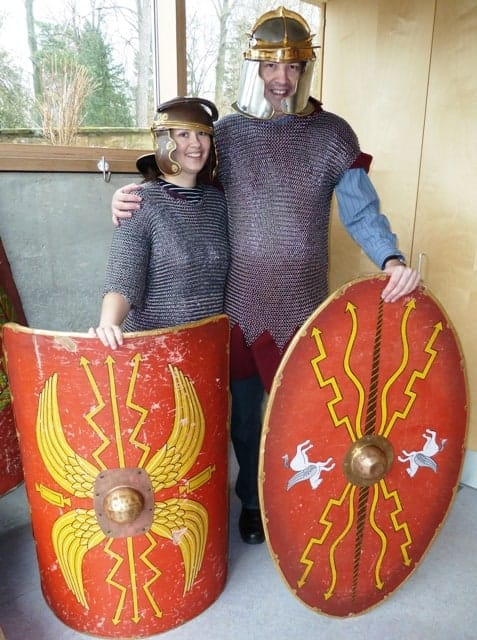 Dressing up as a Roman solider