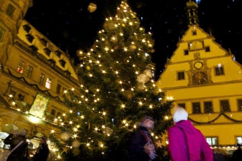 Christmas market in Rothenburg ob der Tauber, Bavaria, Germany