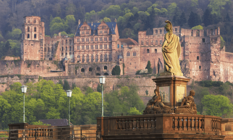 City view of Heidelberg Castle