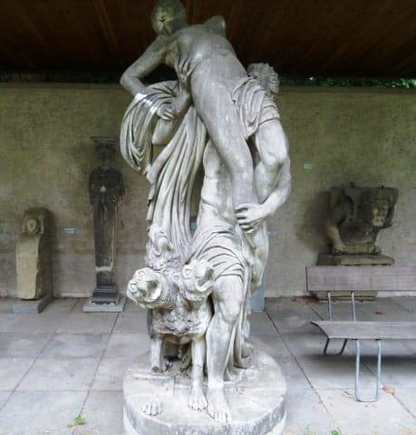 Lapidarium dog statue in Stuttgart Baden-Württemberg, Germany