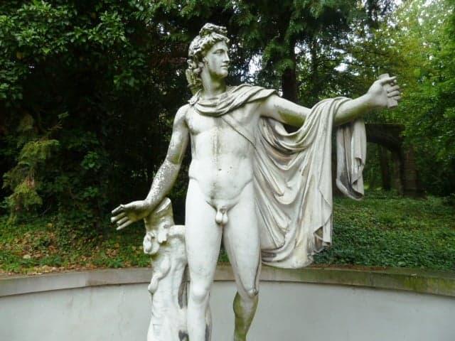 Lapidarium man statue in Stuttgart Baden-Württemberg, Germany