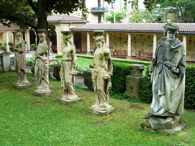 Lapidarium statues in Stuttgart, Germany