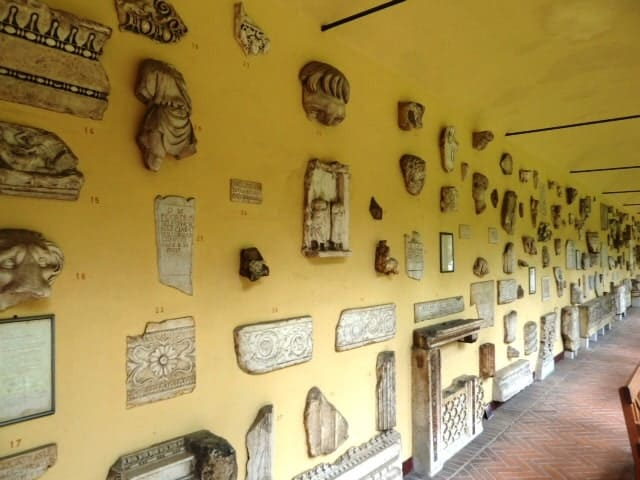 Lapidarium Wall of Monuments in Stuttgart, Germany