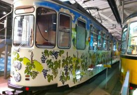 Party tram on display. They were previously available for rent in Stuttgart, but not today