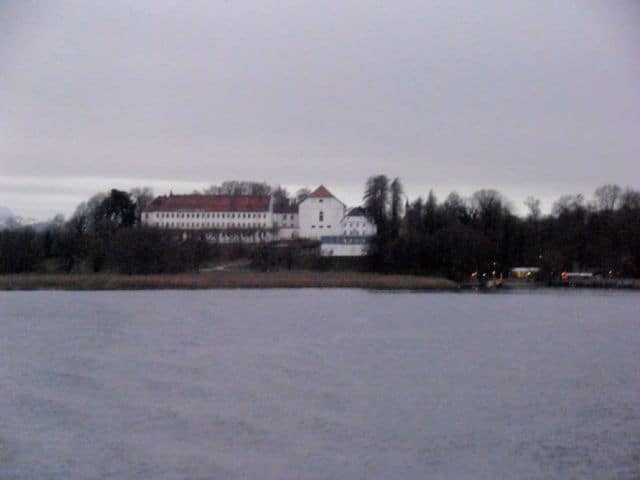The monastery on Fraueninsel as seen from the boat.