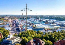 grounds for Oktoberfest are held in Theresienwiese, Munich, Germany